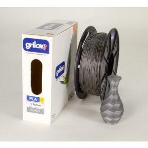 Filamento Pla para Impresora 3d DE 1.75mm Por Kg Grilon3 GRIS PLATA